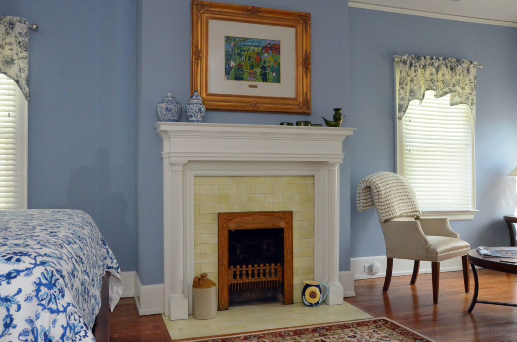 Fireplace in the King Size Room